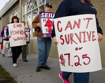 Union Members Protest In Portland Maine In September 2014 To Call For An Increase In The 7 25 Per Hour U S Federal Minimum Wage